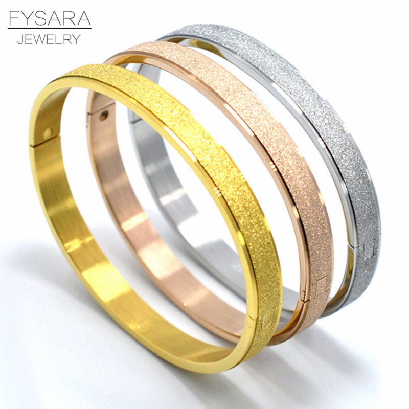 FYSARA Fashion Jewelry Luxury Couple Bracelets & Bangles Grind Arenaceous Frosted Bracelets For Women Men Classic Cool Jewelry