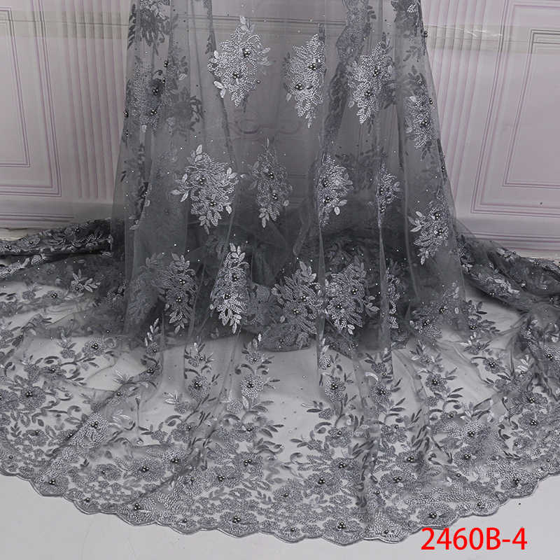 5yardslot New fashion high quality 6colors elegant embroidery lace fabric evening dressparty dress lace fabric 120cm