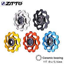 ZTTO 11T Bicycle Rear Derailleur Jockey Wheel Ceramic Bearing Guide Roller Aluminium Alloy Bike 5 Colors