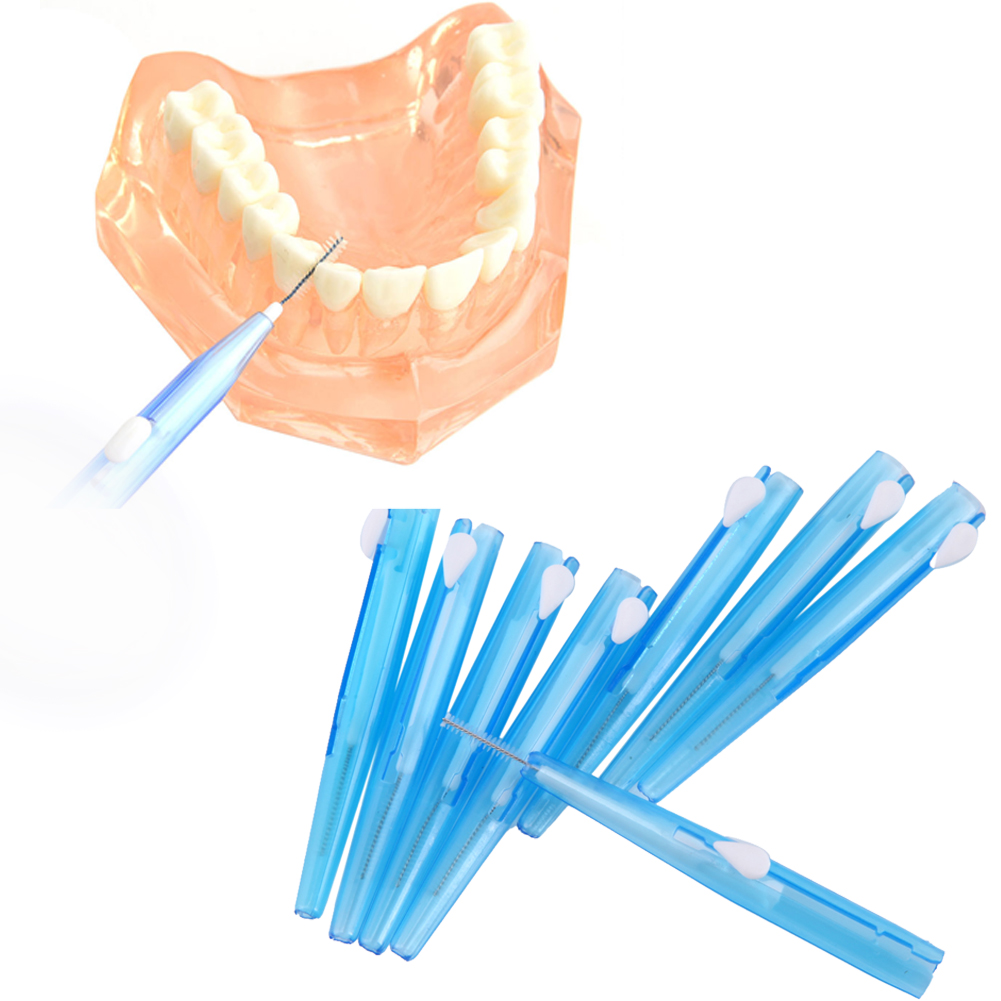 8pcs Repeatedly Use Interdental Dental Floss Brush Toothpick Teeth Cleaner Brushes Toothbrushes 0.7mm Adults Dental Oral Care