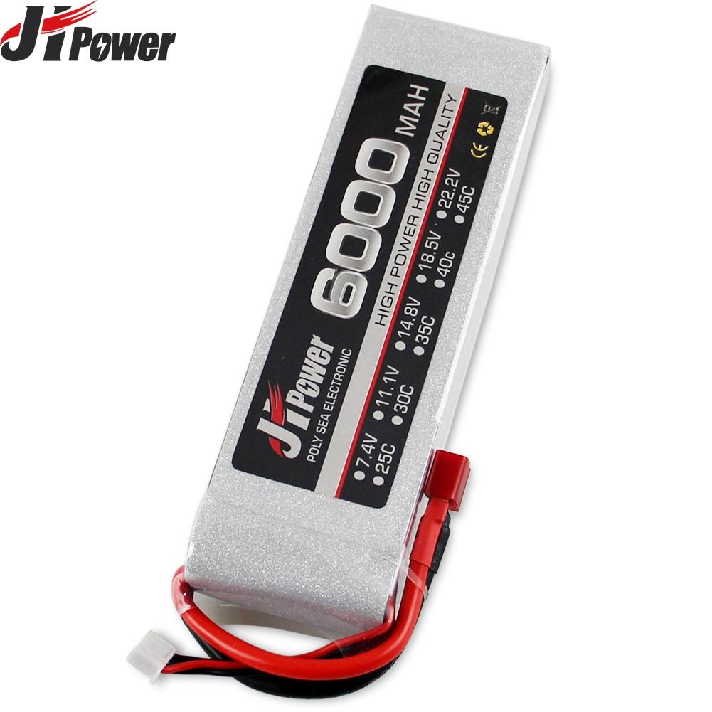Jhpower 11.1V 6000mAh 35C 3S T Plug Lithium Battery For RC Car Lithium Polymer Battery Remote Control Toy Car Battery lp2200 3s 20 11 1v 2200mah lithium polymer battery for r c helicopter black