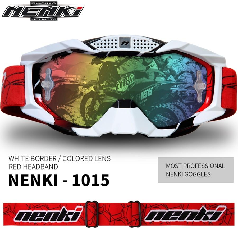Livraison gratuite 1 pièces NENKI professionnel coupe-vent hors route course Motocross ATV vélos moto lunettes lunettes couleurs lentille
