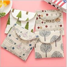 Cute Cartoon Cotton Pads To Receive Fresh Bag Sanitary Napkin Bag Zero Wallet Storage bag 13*12.5CM