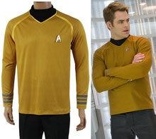 Movie Star Trek Costumes Cosplay Star Trek Captain Kirk Gold Adult Men Cosplay Costumes For Halloween