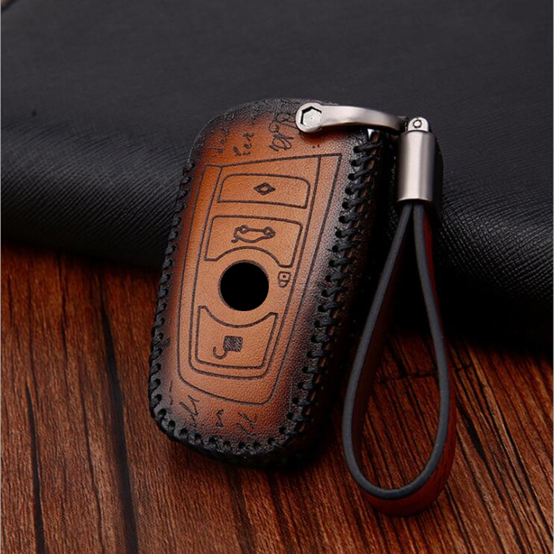 Genuine Leather Key Case Holder Shell Bag For BMW X5 F15 X6 F16 G30 520 525 F30 F10 F18 118i 320i 1 3 5 7 Series X3 X4 M3 M4 M5