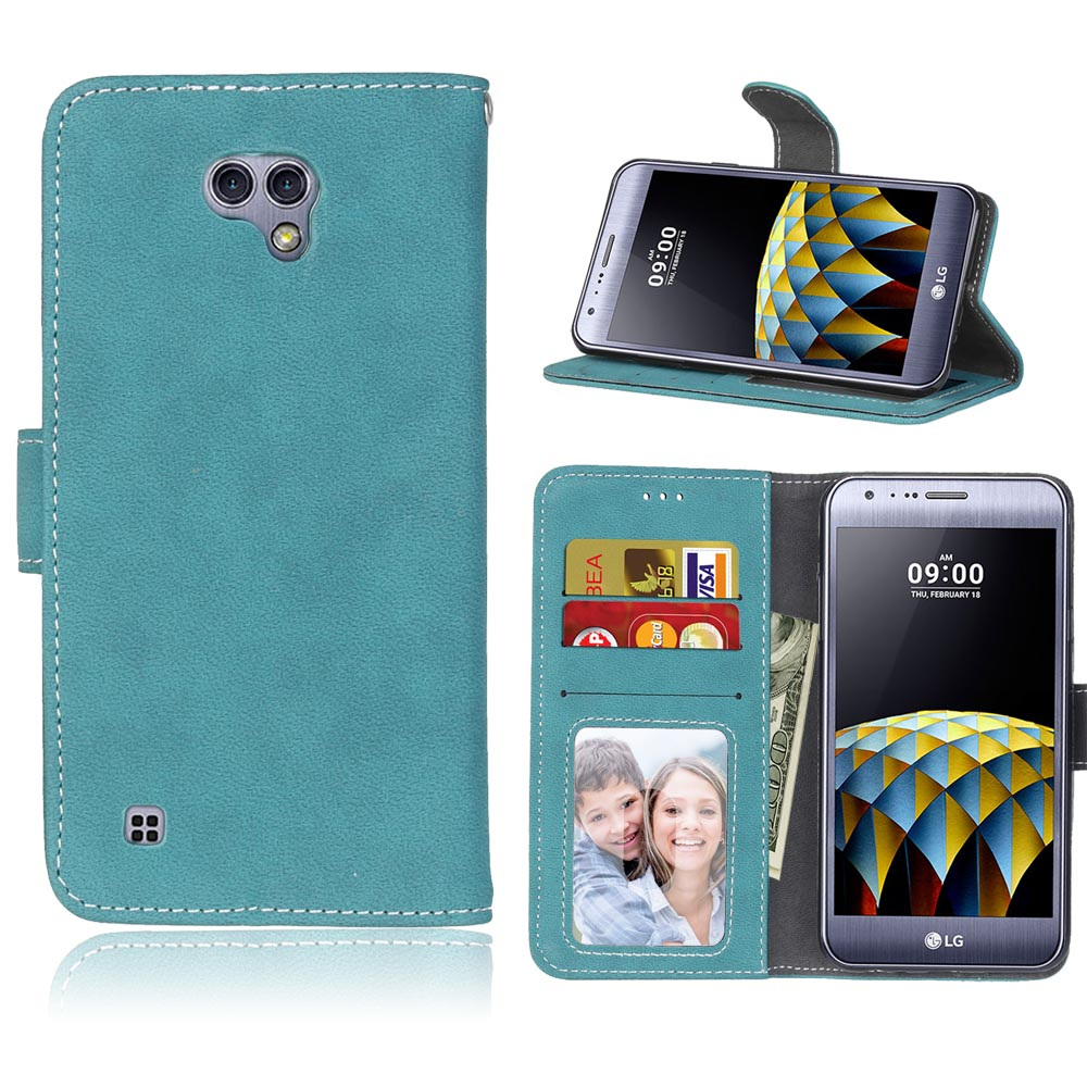 For LG X Cam Case Luxury PU Leather Cover Wallet Case For LG X Cam K580 K580DS Flip Protective Phone Cases Back Cover Skin Bag