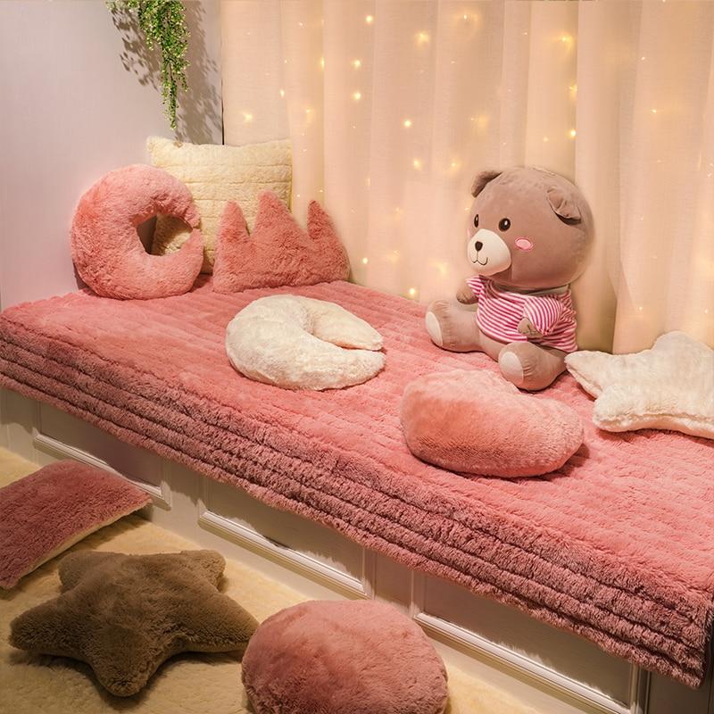 Living Room/bedroom  Soft Carpet Plush Bay Window Cushion Windowsill Tatami Blanket Decoration Simple Modern Bedroom Balcony Mat