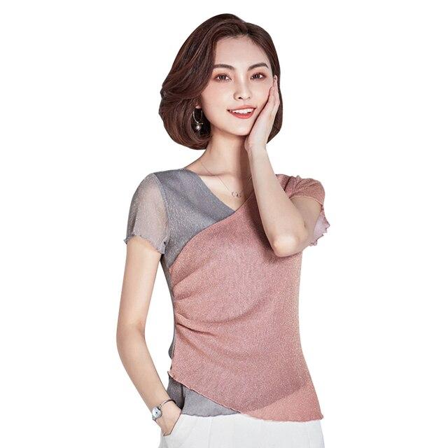 Women s Latin Dance Tops Ballroom Dance Salsa Cha cha Rumba Practise T Shirt  Dancewear Casual Mesh 2333b43c7