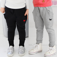 2016 Spring Cartoon Dog Female Child Sports Pants Baby Girl Casual Pants Long Trousers