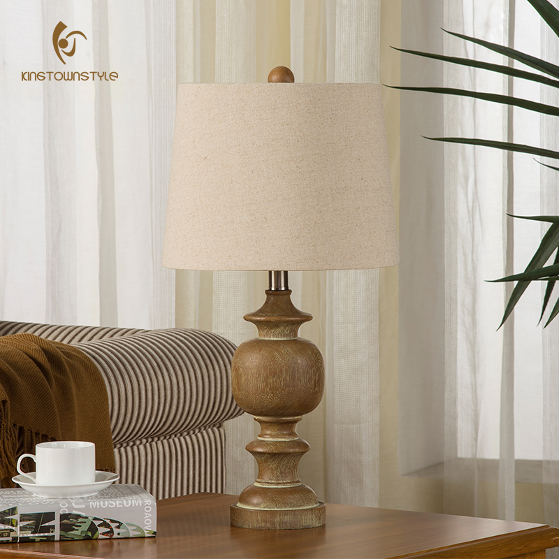 American Country European Pastoral Living Room Bedroom Bedside Lamp Lamp  Resin French Simple Retro Decorative Lamp