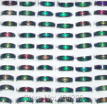 Wholesale 100pcs 6MM Mood Rings MAGIC EMOTION FEELING MOOD RING CHANGING COLOR Rings For Men And Women