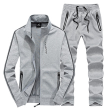 где купить Sportswear Set Men Loose Plus Size Sport Suit Windproof Mens Gym Clothing 2018 New Warm Fitness Tracksuit Jogger Running Sets по лучшей цене