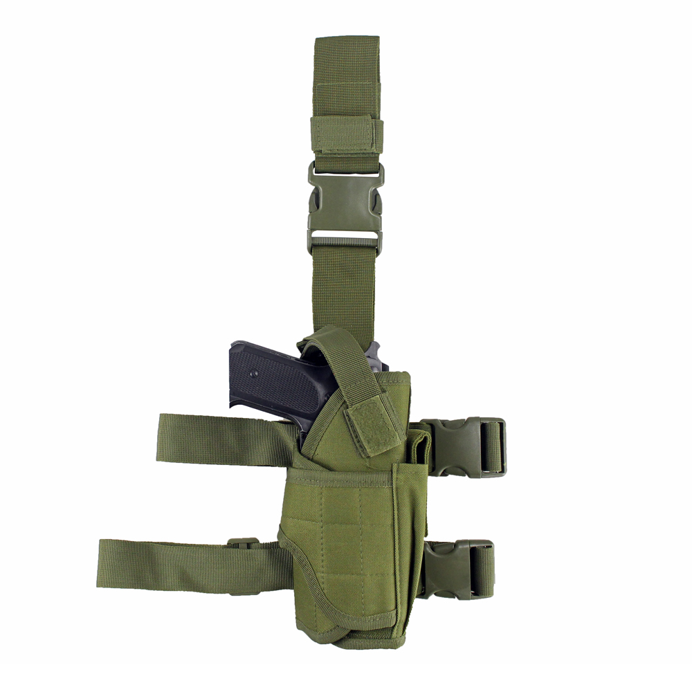 Image 2 - Tactical Universal Drop Leg Holster gun holster bag Adjustable Thigh Pistol Gun Holster for Right Handed-in Holsters from Sports & Entertainment