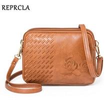REPRCLA New Three Compartments Crossbody Bags for Women Fashion Small Shoulder Bag Embroidery Ladies Handbags Designer Purse reprcla 2019 summer new women bag handbags chain strap