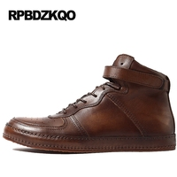 Shoes Business Black Brown Flats Lace Up Round Toe High Quality Top Men Genuine Leather Real