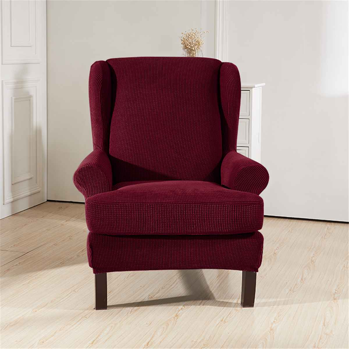 Strange Elastic Armchair Wingback Wing Sofa Back Chair Cover Sloping Arm King Back Chair Cover Stretch Protector Slipcover Protector Slipcovers For Armchairs Gmtry Best Dining Table And Chair Ideas Images Gmtryco