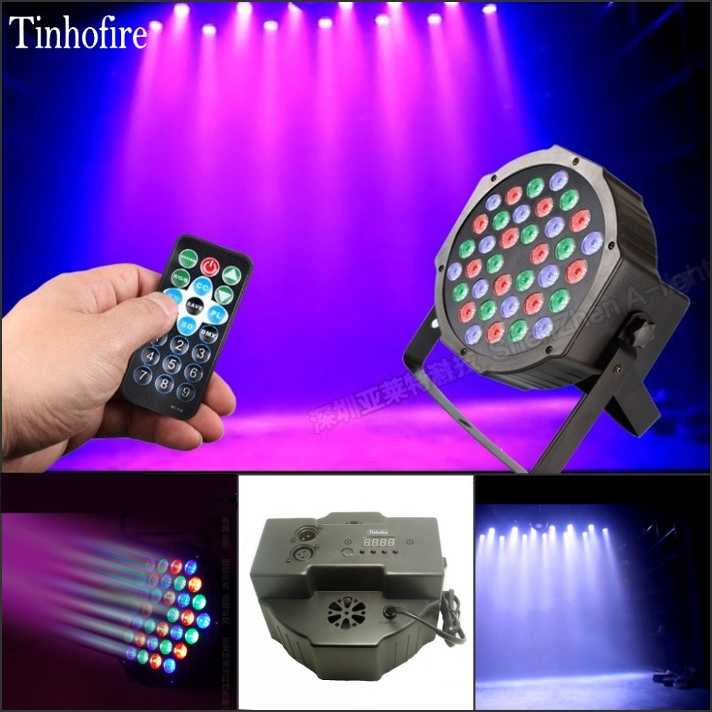 Tinhofire Remote Control 36W 36 LED Stage Light RGB Par Light DMX512 Master Slave LED Flat DJ Controller Discos KTV Music Light dmx512 digital display 24ch dmx address controller dc5v 24v each ch max 3a 8 groups rgb controller