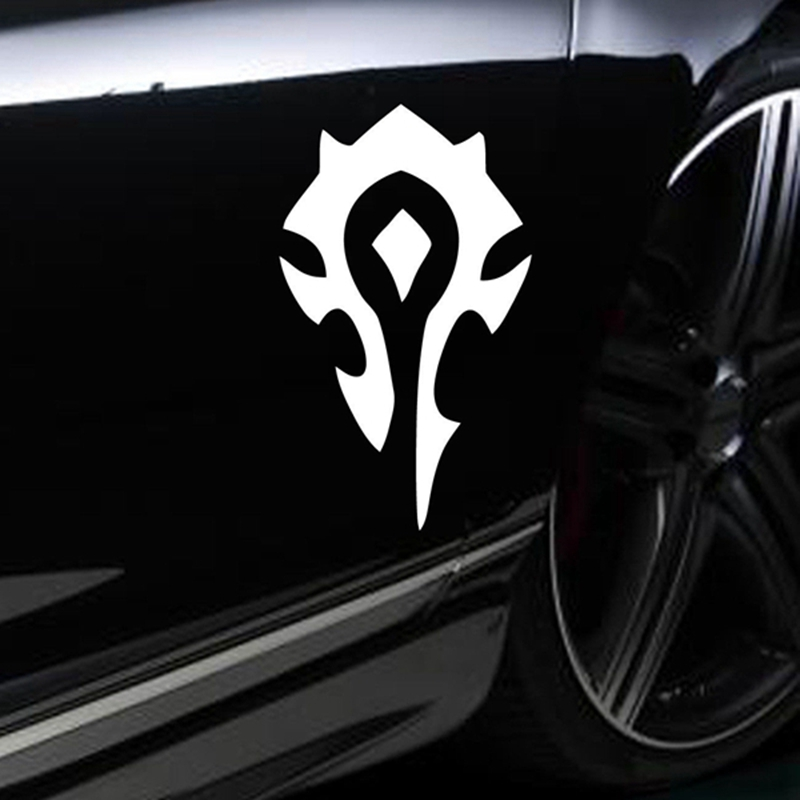 HORDE wow World of Warcraft game decal STICKER VINYL VEHICLE CAR WALL LAPTOP alice in wonderland wall decal quote cheshire sayings we re all mad here vinyl decal for macbooks laptops car windows etc