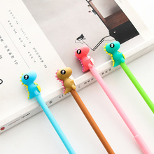 4pcs/lot 0.5mm cute Small monster Gel Pen Promotional Gift Stationery School & Office Supply Kawai Neutral pen Stationery 4pcs lot 0 5mm cheese cat head pendant gel pen promotional gift stationery school