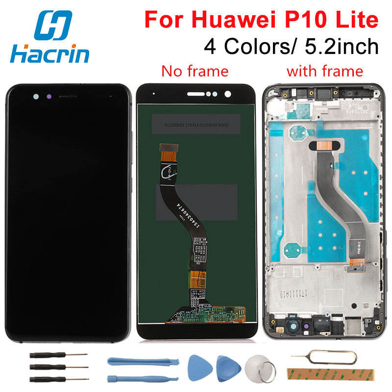 Huawei P10 Lite LCD Display +Touch Screen New Digitizer Screen Glass Panel Replacement For Huawei P10 Lite WAS-LX2J /LX2/LX1A