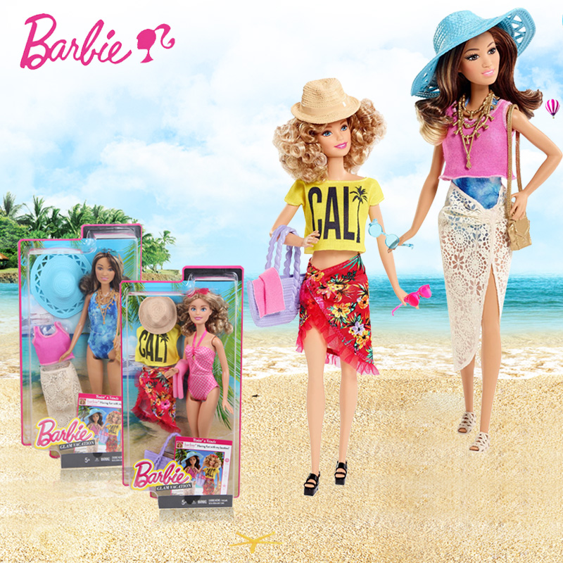 Original Barbie Doll Swimsuit Dress dolls Resort Doll Barbie Gift SetBoneca Fashionista Girl Princess toys for children Gift barbie originais hair feature doll house coloring activity american girl dolls barbie dolls brinquedos boneca children gift fbh6