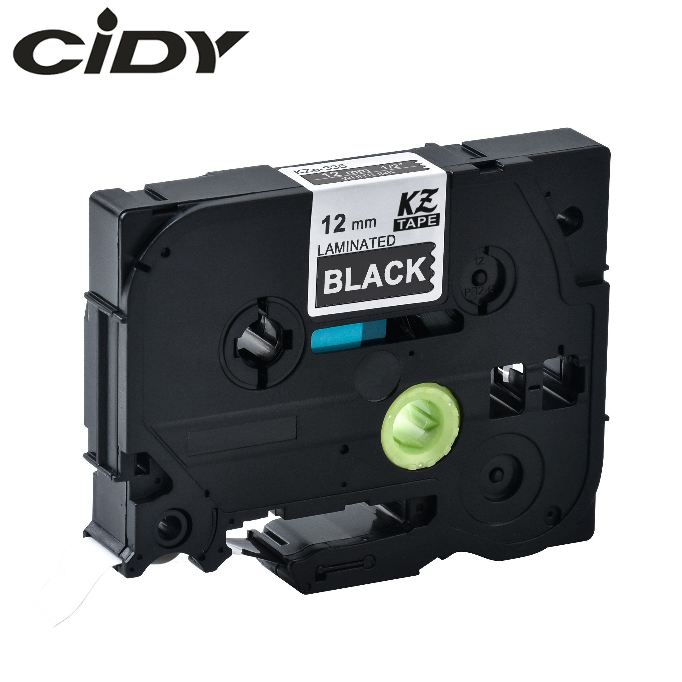 CIDY 1PCS Compatible TZe-335 TZE 335 TZE335 TZ 335 Tz335 White On Black  Laminated Label Tape For Label Printer Brother P-TOUCH