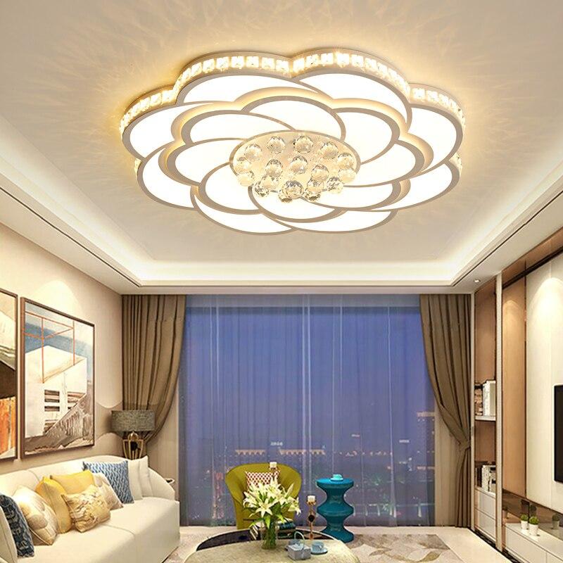 Cristal LED lustre éclairage Dia 52/68/80 cm plafond lustre pour salon chambre lustre luminaria lampadario