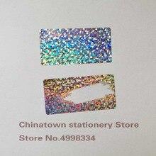 Autocollants billets promotionnels 500 pièces 1 pouce x 2 pouce à petits points laser, étiquettes égratignées