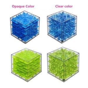 Image 3 - Mini laberinto de cubo de velocidad 3D para niños y adultos, juego de rompecabezas, Cubos mágicos, juguetes de aprendizaje, laberinto con bola que rueda, AQ1563