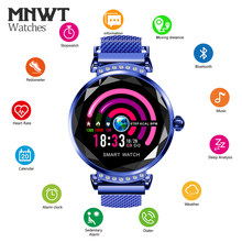 MNWT H2 Smart watch Women Fashion 3D Diamond Dial Bluetooth Smart Sleep Heart Rate Monitor Message Call Reminder Wristwatches(China)