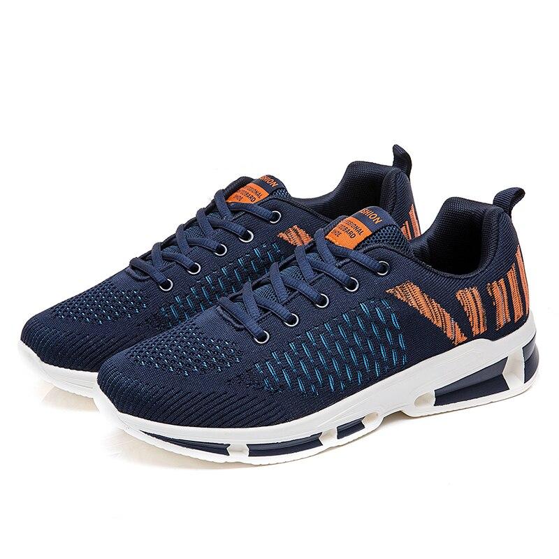 2018 Hommes Confortable Calzado bleu gris Automne Nouvelle Chaussures De Noir Zeeohh Appartements Hombre Respirant Casual Printemps Sneakers Maille nPk08wO