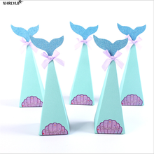XHRLYLB 10pc Explosive Blue Mermaid Peacock Candy Box Wedding Decoration Gift Baby Shower Christmas Party.7z