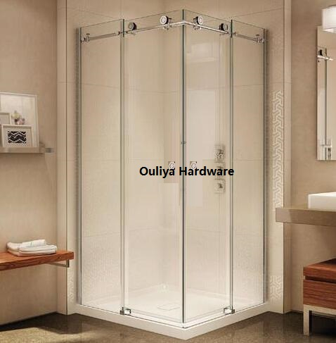 frameless sliding shower door hardware. Free Shipping SS304 Frameless Glass Sliding Shower Door Set Hardware In Satin Finish