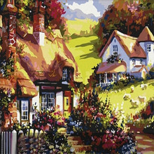 DIY Diamond painting cross stitch Painting Crafts Embroidery Decoration Gifts  5D Mosaic House