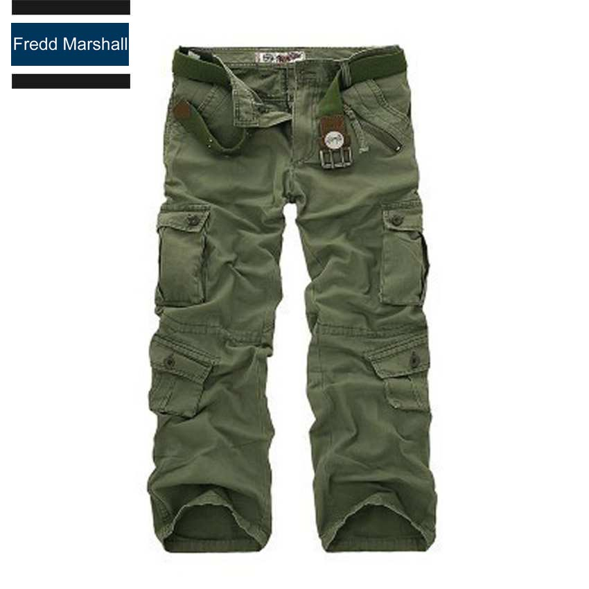 На открытом воздухе одежды импортируется-одежда брюки-карго с застежкой-молнией карманы марка man мужчины хлопок multi-карманы повседневные брюки камуфляж 204