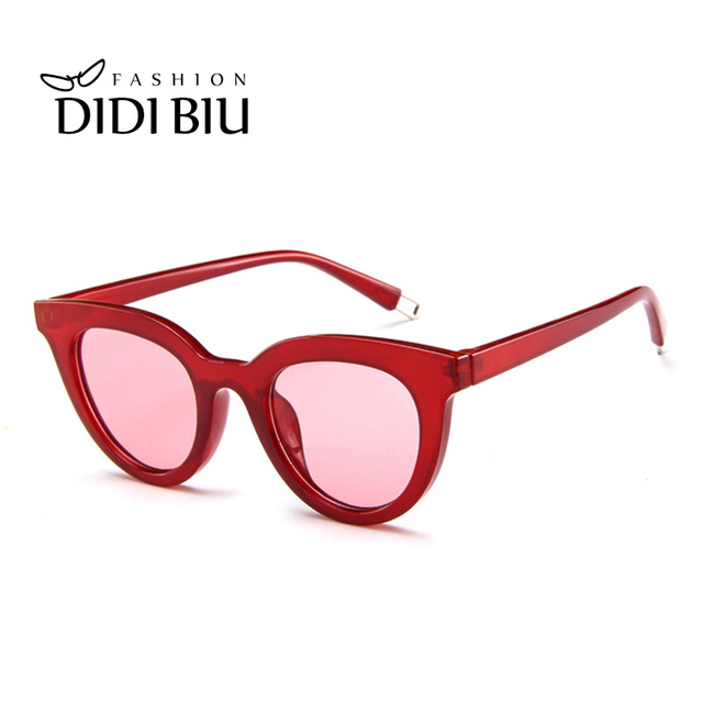 e445a61db Sexy Small Round Hipster Sunglasses Women Brand Leopard Glasses Transparent  Clear Lens White Frame Casual Yellow