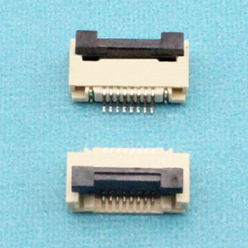 100pcs/lot 1.0mm-8P Down Clamshell Connector FFC <font><b>FPC</b></font> 1.0mm Pitch <font><b>8</b></font> <font><b>Pin</b></font>/way Flexible Flat <font><b>Cable</b></font> Connector image