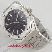 PARNIS мужские часы лучший бренд Нержавеющая Сталь Роскошные для мужчин Военная Униформа стеклянные наручные часы автоматические Relogio Masculino