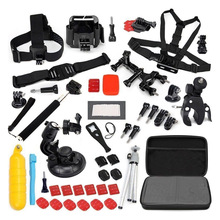 Top Deals Accessories Set Kit 60 in 1 for Gopro Hero 4 3+ 3 2 Bag Monopod Head Chest Strap