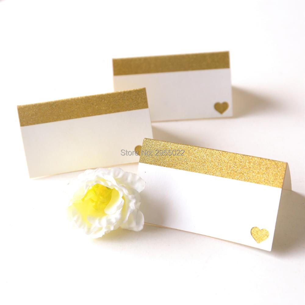 Glitter gold wedding table numbers party Table number cards with ...