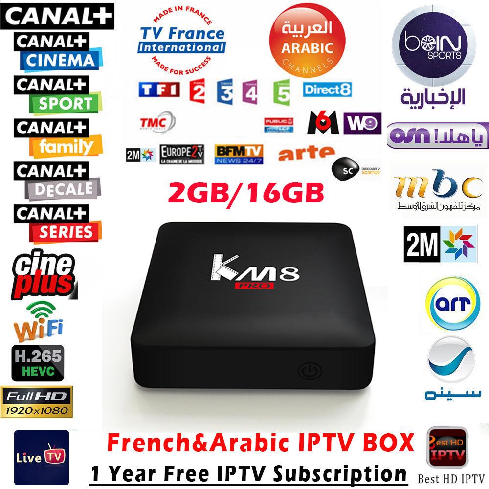 Prix pour Arabe IPTV Boîte km8 pro + 1 Année IPTV Europe TV en ligne Meilleur HD IPTV Smart TV Box S912 1150 + En Direct TV Chaînes Sportives IPTV Top Box
