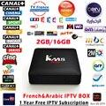 Caja del IPTV árabe IPTV km8 pro + 1 Año Europa TV en línea Mejor HD IPTV Caja de la TV Inteligente S912 1150 + Live TV Caja IPTV Canales de Deportes Superior