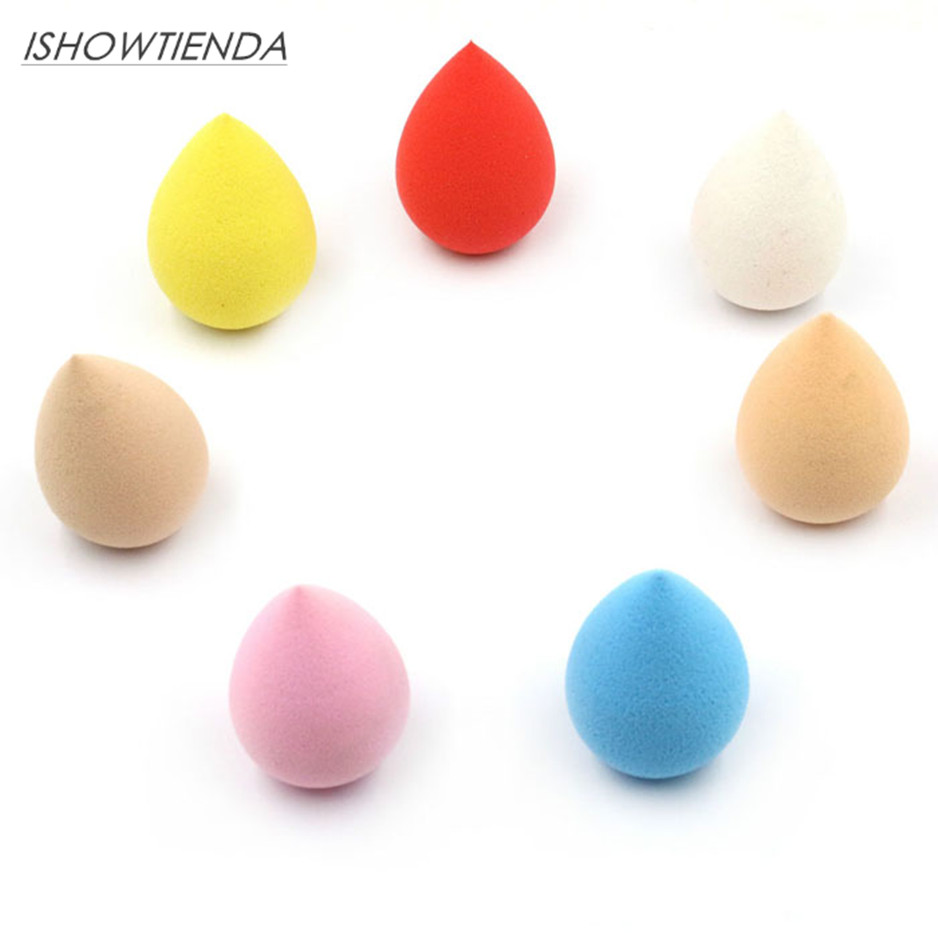 ISHOWTIENDA Soft Water Drop Makeup Sponge Foundation Blending Puff Powder Smooth Cosmetic Beauty Pincel maquiagem
