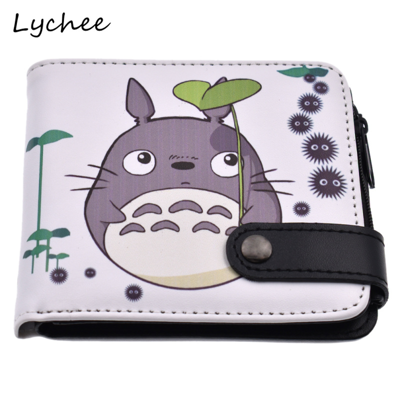 Focal20 My New Neighbor Totoro Short Zipper Wallet Artificial Leather PU Purse For Women Girls Coins Collection