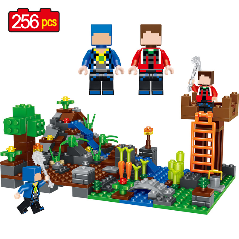 My World Compatible LegoINGLYS Minecrafted Building Block My Village Building Blocks Bricks Set Educational Toys for children lele my world power morse train building blocks kits classic educational children toys compatible legoinglys minecrafter 541 pcs