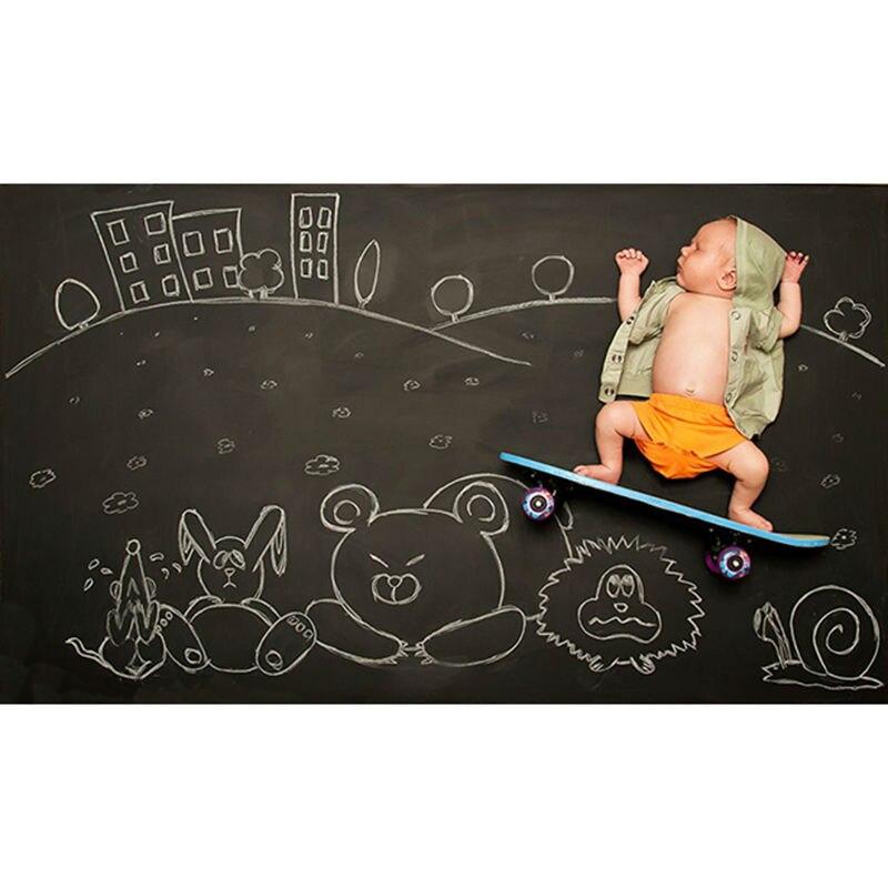 Magnetic Chalkboard Blackboard Sheet Decorative Black Chalk Writing Board Blackboard Stickers 60 x 40 cm decorative magnetic chalk black writing board blackboard stickers 60 x 40 cm