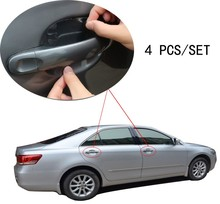 4pcs/set Universal Invisible car styling car door Scratches Automobile Shake Protective car stickers Film car Handle Protective