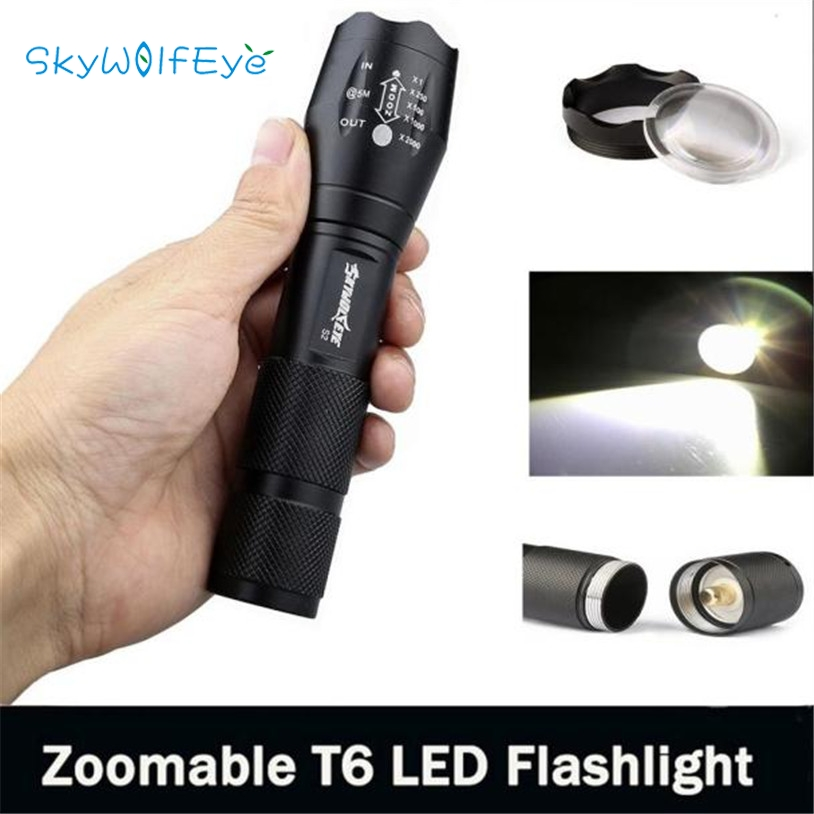skywolfeye 3500 Lumen 5 Modes CREE XM-L T6 LED Torch Powerful 18650 Flashlight Lamp Light L61221 drop ship cree xm l t6 bicycle light 6000lumens bike light 7modes torch zoomable led flashlight 18650 battery charger bicycle clip