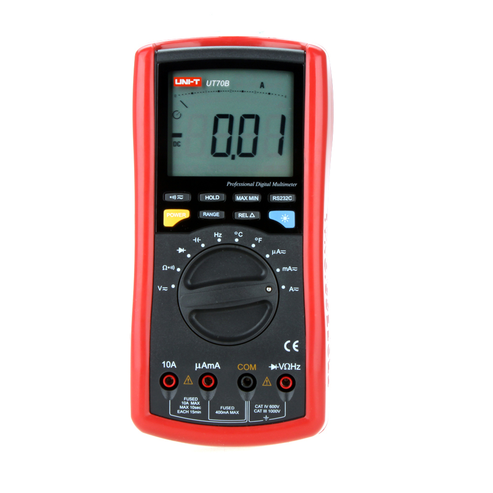 UNI-T UT70B+ 3999 Count w/ RPM Display DC/AC Voltage Current Resistance Capacitance Frequency Temperture DMM Digital Multimeters uni t ut60b modern auto ranging data hold dmm digital multimeters w capacitance
