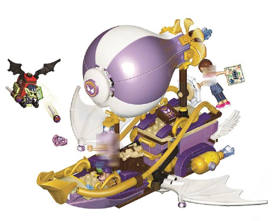 Bela Nouvelle 41184 Elfes 349 Pcs Le Dirigeable et l'amulette de Aira Chase Building Blocks enfants DIY Briques jouets Pour Enfants 10696 Cadeau